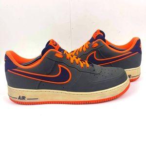 Nike Air Force 1 Low Men's Sneakers US 12 Gray/Orange Trending shoes
